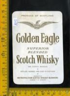 Etichetta Vino Liquore Scotch Whisky Golden Eagle Scotland - Etichette