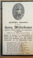 Sterbebild Wk1 Ww1 Bidprentje Avis Décès Deathcard KUK Schützenregiment 2 Brünn Aus Nussbach 25. Mai 1917 - 1914-18