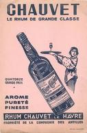 Buvard Ancien CHAUVET - RHUM - COMPAGNIE DES ANTILLES - Liqueur & Bière