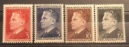 Yugoslavia, 1950, Mi: 605/08 (MNH) - 1945-1992 Repubblica Socialista Federale Di Jugoslavia