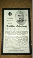 Sterbebild Wk1 Ww1 Bidprentje Avis Décès Deathcard KUK 56. Gebirgs Train Kommando ASNE Schlucht ROANA Val Grubach - 1914-18