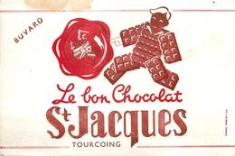 Buvard Ancien CHOCOLAT SAINT JACQUES - TOURCOING - Chocolat