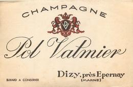 Buvard Ancien CHAMPAGNE POL VALMIER - DIZY - Liqueur & Bière