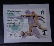 Italia 2018 Anniversario Centro Tecnico Federale Di Coverciano. Valore Usato - 6. 1946-.. Repubblica