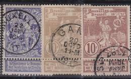 BELGIQUE 1896:  La Série Complète  'Saint Martin' (Y&T 68-70), Oblitérés - 1914-1915 Red Cross