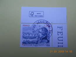FRANCE 2016 YTN° 5044  BICENTENAIRE NAVIGATION A VAPEUR  Timbre Neuf Oblitéré Cachet Rond  Coin De Feuille - Used Stamps