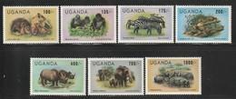 OUGANDA - N°343/9 ** (1983) Faune Africaine - Uganda (1962-...)