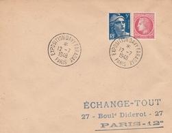 OBLIT. TEMPORAIRE EXPO. FARADAY PARIS 7/48 - Gedenkstempels