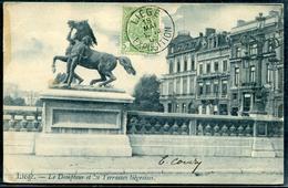 BELGIQUE - N° 56 / CPA OBL. LIEGE / EXPOSITION LE 18/5/1905 POUR LA FRANCE - TB - 1893-1907 Coat Of Arms