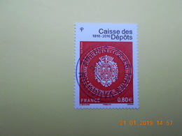FRANCE 2016 YTN° 5045  BICENTENAIRE DE LA CAISSE DES DEPOTS   Timbre Neuf Oblitéré Cachet Rond - France