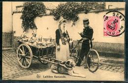 BELGIQUE - N° 202 / CP LAITIERE FLAMANDE OBL. GAND LE 15/2/1927 - SUP - 1922-1927 Houyoux