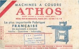 Buvard Ancien MACHINE A COUDRE ATHOS - FABRICATION FRANCAISE - SIN LE NOBLE - Textile & Vestimentaire