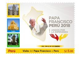 Peru 2019 Visit Of Pope Francis To Peru In 2018, 2 Units - Peru