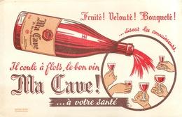 Buvard Ancien MA CAVE VIN FRUITE ET VELOUTE - Liqueur & Bière