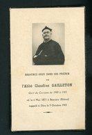 SOUVENIR MORTUAIRE  - DE L'ABBÉ CLAUDIUS GAILLETON CURÉ DE CERTINES (°1871 À BEAUJEU +1943 ) - Obituary Notices