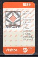 """Ticket - Biglietto Ingresso Visitatore / Visitor Fiera Milano """" Chibi E Cart """" '89 - - Tickets - Entradas"""