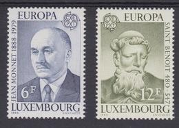 Luxembourg  1980 -  N°959/60 XX  EUROPA  Personnages Célèbres  -Jean MONNET Et Saint Benoît De Nursie - Luxembourg