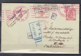 Postkaart GEPRÜFT Oberkommando Der Wehrmacht Met Vlagstempel Schrijf In Op De Leening 60 Millioen Loten 17 DEZ 1941 - Covers