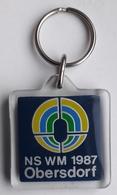 Obersdorf 1987 World Championship Nordic Skiing  Key Chain Key Ring - Porte-clefs