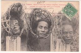 CPA- TONKIN - Hanoï - (Têtes Des Artilleurs Indigènes, Empoisonneurs Exécutés Le 8 Juillet 1908) - 1909-2scans TBE - Vietnam