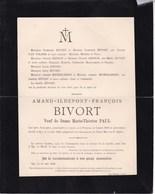 FLEURUS SPY Amand BIVORT Veuf PAUL 1822-1898 Familles RENSON MICHIELSSENS - Obituary Notices