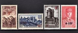 FRANCE 1941 -  Y.T. N° 489 / 490 / 491 / 494 - NEUFS** - France