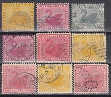WESTAUSTRALIEN - MiNr: Partie 9x  Used - 1854-1912 Western Australia