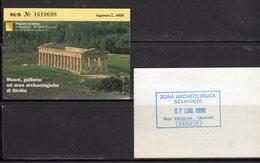 Ticket - Biglietto Ingresso Musei, Gallerie Ed Aree Archeologiche Di Sicilia - - Tickets - Vouchers