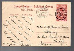 CONGO - ENTIER STIBBE 43 - VUE 64 - BOMA 1913 TTB   - PL8 - Ganzsachen