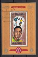 723 Manama 1972 Soccer Calcio Football Brasile Pelè Monaco Munich 1974 Imperf. FIFA World Cup Santos - 1974 – Germania Ovest