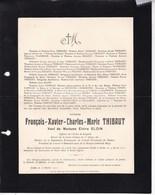 Château De Taviet Achêne JAMBE François-Xavier THIBAUT Veuf ELOIN Député Permanent Province De Namur 1843-1911 - Overlijden