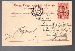 CONGO - ENTIER STIBBE 43 - VUE 59 LEOPOLDVILLE 1913  TTB   - PL8 - Ganzsachen