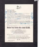BERTRIX Franz DELOGNE Notaire Président Du Conseil Provincial Du Luxembourg 1884-1937 Famille PONCELET Dans L'état - Obituary Notices