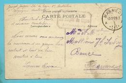 Kaart Stempel MALMEDY 13/3/21, Stempel 24° Regim.de Ligne / 11e Compagnie - Guerre 14-18
