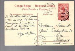 CONGO - ENTIER STIBBE 43 - VUE 17 - PONTHIERVILLE + STANLEYVILLE + LIEGE 1920   TTB   - PL8 - Ganzsachen