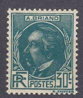 FRANCE - Francia - Frankreich  - 1933 - Yvert 291 Nuovo MH; 30 Cent., Blu/verde, Aristide Briand. - France