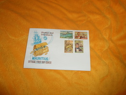 ENVELOPPE FDC MAURITIUS PIRATES AND PRIVATEERS. DE 1972. / CACHET + TIMBRES X4 - Maurice (1968-...)