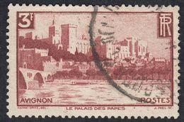 FRANCE Francia Frankreich - 1938 - Yvert 391 Usato, 3 F, Bruno/rosso. Avignon. - France