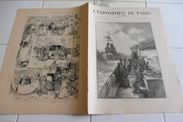L'EXPOSITION DE PARIS-18 MAI 1889-PONT D'IENA-LA NOUVELLE GARE SAINT LAZARE-PLAN 1er ETAGE TOUR EIFFEL - 1850 - 1899