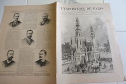 L'EXPOSITION DE PARIS-25 MAI 1889-LA TOUR EIFFEL DETAIL CONSTRUCTION ET FONCTIONNEMENT-PLAN DE L'EXPOSITION - Kranten