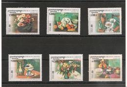CAMBODGE Tableaux De Grands Peintres Années  1999 N° Y/T : 1625/30** - Cambodge
