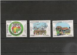 CAMBODGE Anniversaire De L'indépendance  Années  1999/2000 N° Y/T : 1674/76**-1762/64** - Cambodge