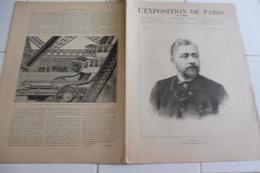 L'EXPOSITION DE PARIS-15 JUIN 1889-Mr EIFFEL-LA TOUR EIFFEL- L'HABITATION HUMAINE-MECANISME DES ASCENSEURS - Newspapers