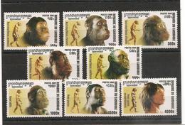 CAMBODGE Hommes Préhistoriques  Année  2001 N° Y/T : 1852/59** - Cambodge