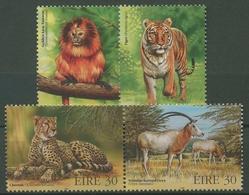 Irland 1998 Gefährdete Tiere: Tiger, Gepard 1101/04 ZD Postfrisch - Unused Stamps