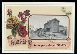 WIGMAEL   .....  2 Cartes Souvenirs Gare ... Train  Creations Modernes Série Limitée - Leuven