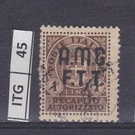 ITALIA   1947AMG FTTRecapito Autorizzato 1 L Usato - 7. Triest