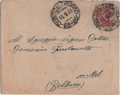 Michetti Cent. 60 Su Piccola Busta Con Annullo Quinto Di Treviso 65-80 16.09.1925 Per Mel (Belluno) - 1900-44 Vittorio Emanuele III