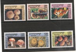 CAMBODGE Flore: Champignons  Années  2000/01 N° Y/T : 1725/30**- 1801/06** - Cambodge