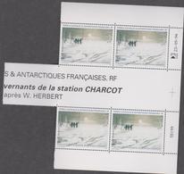 TAAF 4 Neufs Xx N°YT PA 135A - L'Au-revoir Des Hivernants De La Station Charcot - Luftpost